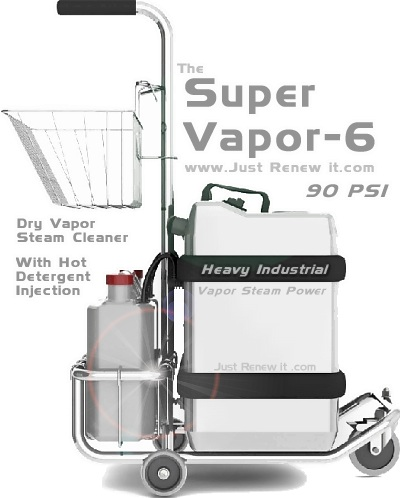 Super Vapor 6 Heavy Steam Cleaner Ful Clenaer